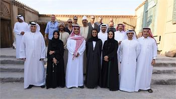 Sheikh Waleed praises Abu Dhabi's production infrastructure and the new MBC backlot