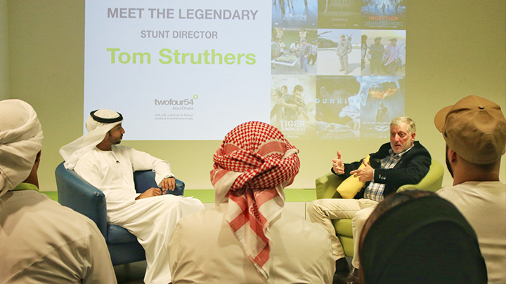 Legendary Hollywood stunt director Tom Struthers shares skills and expertise with future filmmakers in Abu Dhabi