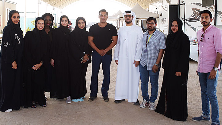 'Having spent more time in Abu Dhabi than in India over the last year, it certainly feels like a second home,' says Salman Khan
