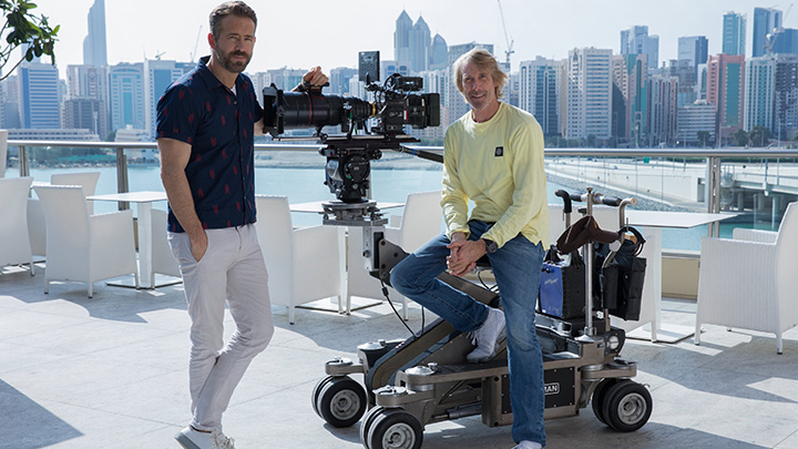 Photo exclusive: Ryan Reynolds and Michael Bay on the set of 6 Underground in Abu Dhabi