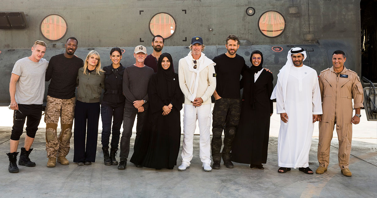 Principal Photography Wraps in Abu Dhabi on Original Action Movie, 6 Underground, Starring Ryan Reynolds and Helmed by Michael Bay